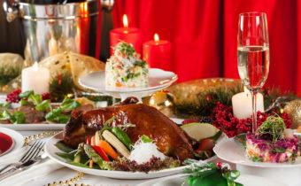курица на праздничном столе