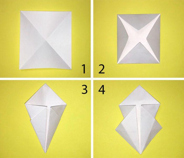 снежнка оригами схема
