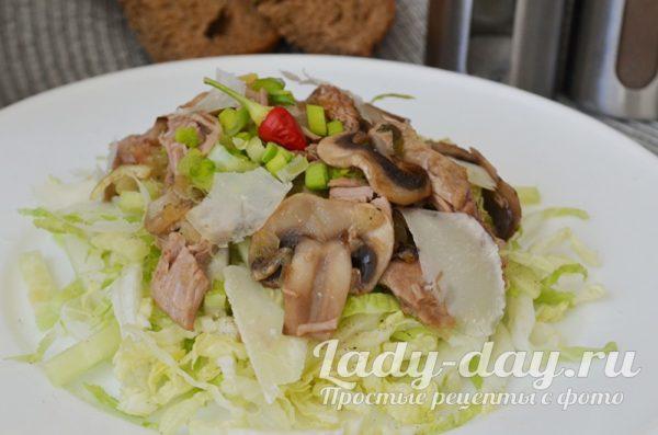 салат с пекинской капустой и говядиной