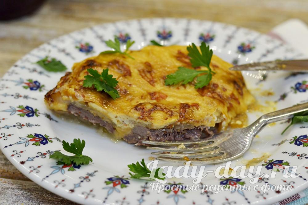 Мясо под сыром в духовке рецепт