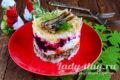 салат с шпротами очень вкусный
