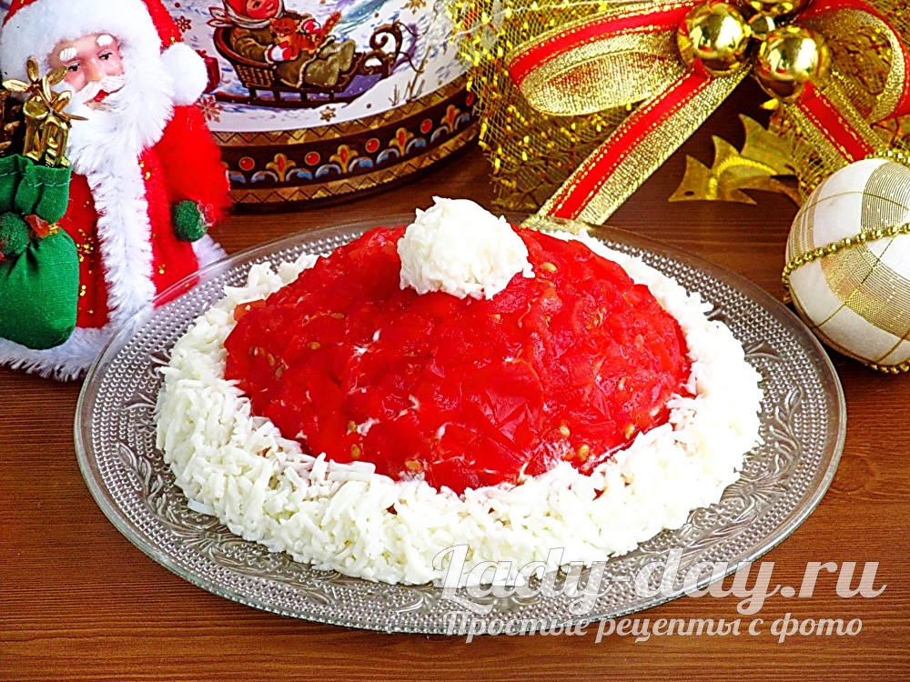 «Шапка Деда Мороза» новогодний рецепт