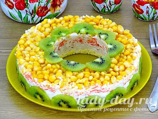 салат с кукурузой и курицей рецепт