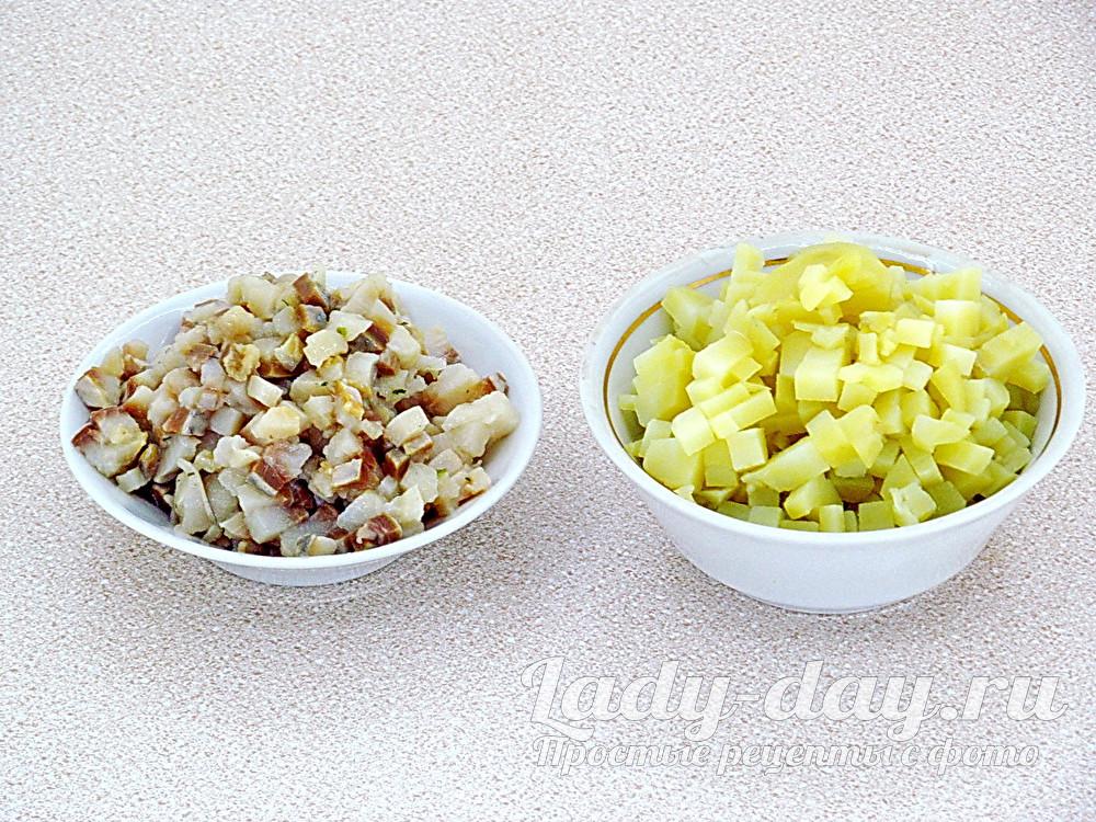 картошка и сельдь