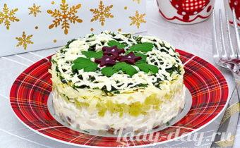 Салат с селедкой:рецепт с фото