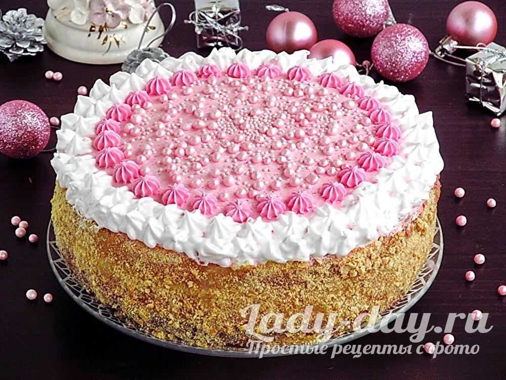 бисквитный торт с заварным кремом, рецепт с фото