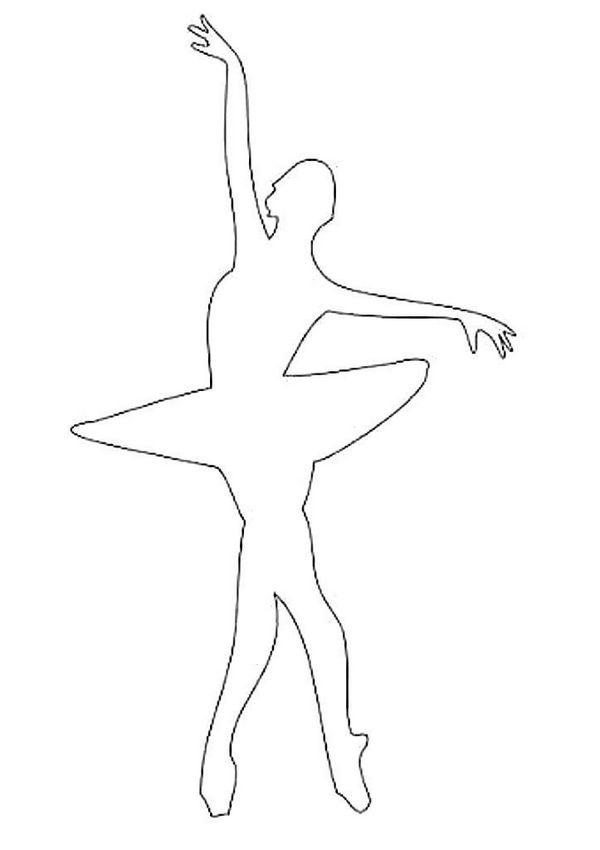 шаблон балерина