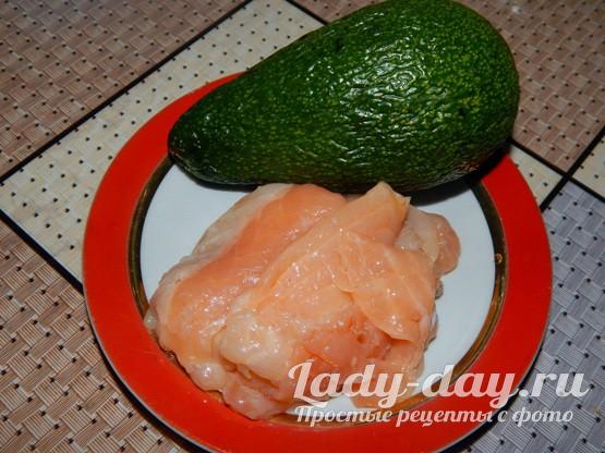 семга и авокадо