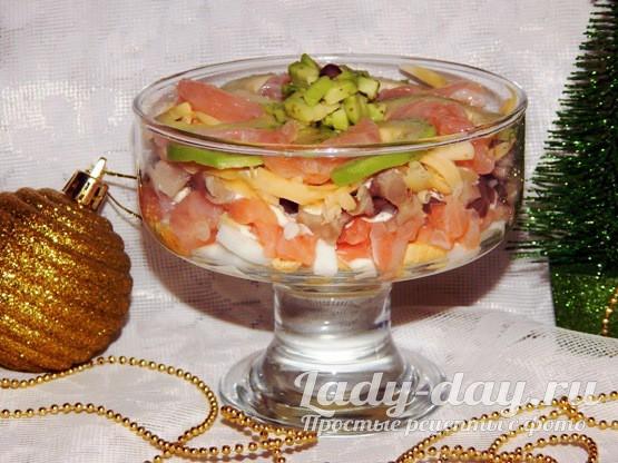 Салат с красной рыбой и авокадо рецепт очень вкусный