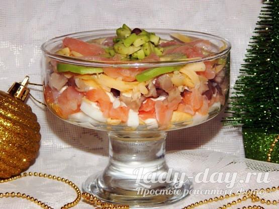 Салат из красной рыбы и авокадо