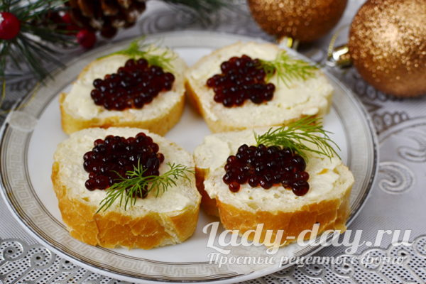 вкусные бутерброды с икрой на праздник