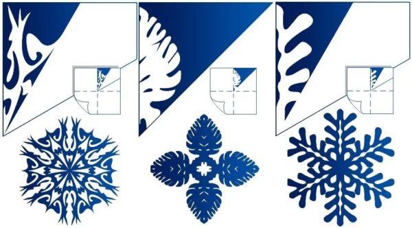 схема для снежинок