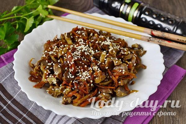 куриные желудки по-корейски готовы