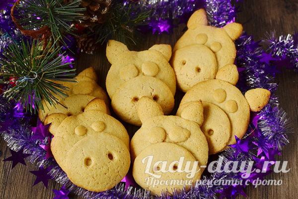 печенье Поросята на Новый год