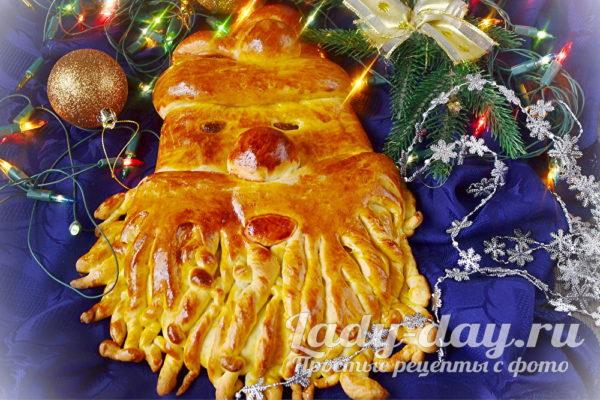 пирог Дед Мороз готов
