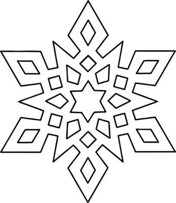 трафарет снежинки