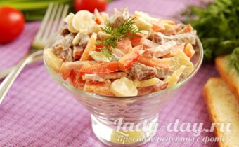 салат с языком