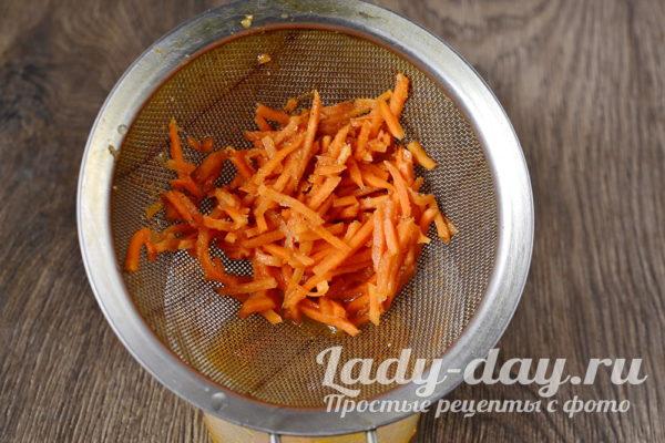 морковь откинуть на сито