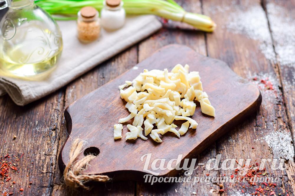 Салат из мороженного кальмара