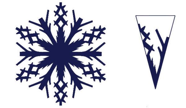 сзема для снежинки