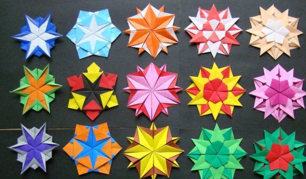 снежинки-оригами