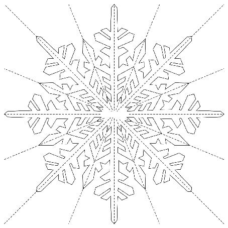 снежинка для пачки балерины