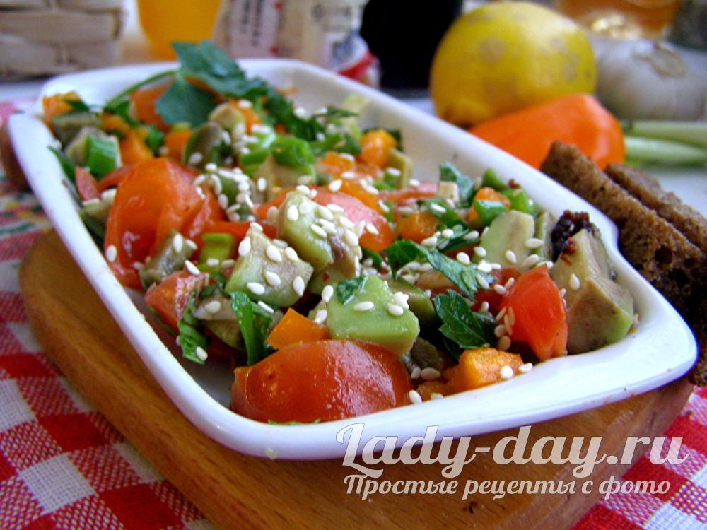 Салат с авокадо простой и вкусный рецепт