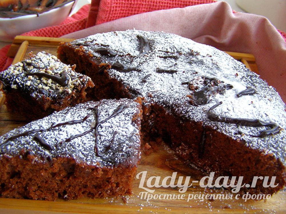 шоколадный пирог простой рецепт с какао