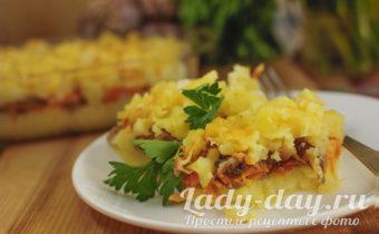 картофельная запеканка с грибами в духовке фото