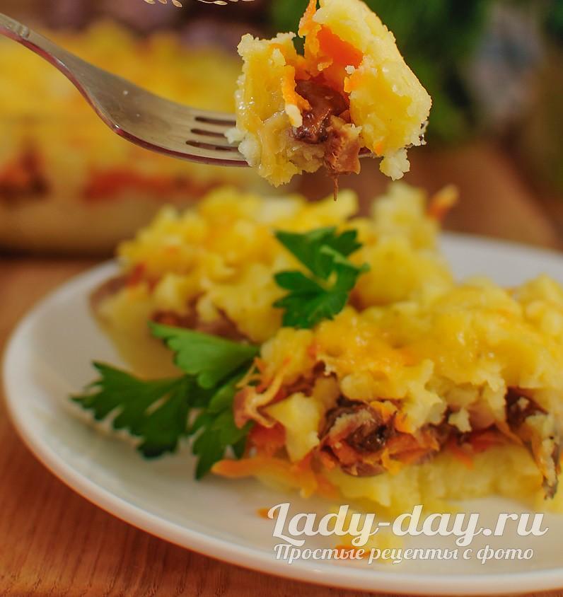 картофельная запеканка с грибами в духовке рецепты с фото