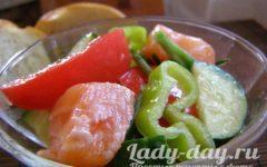 салат с малосольной семгой рецепт с фото очень вкусный