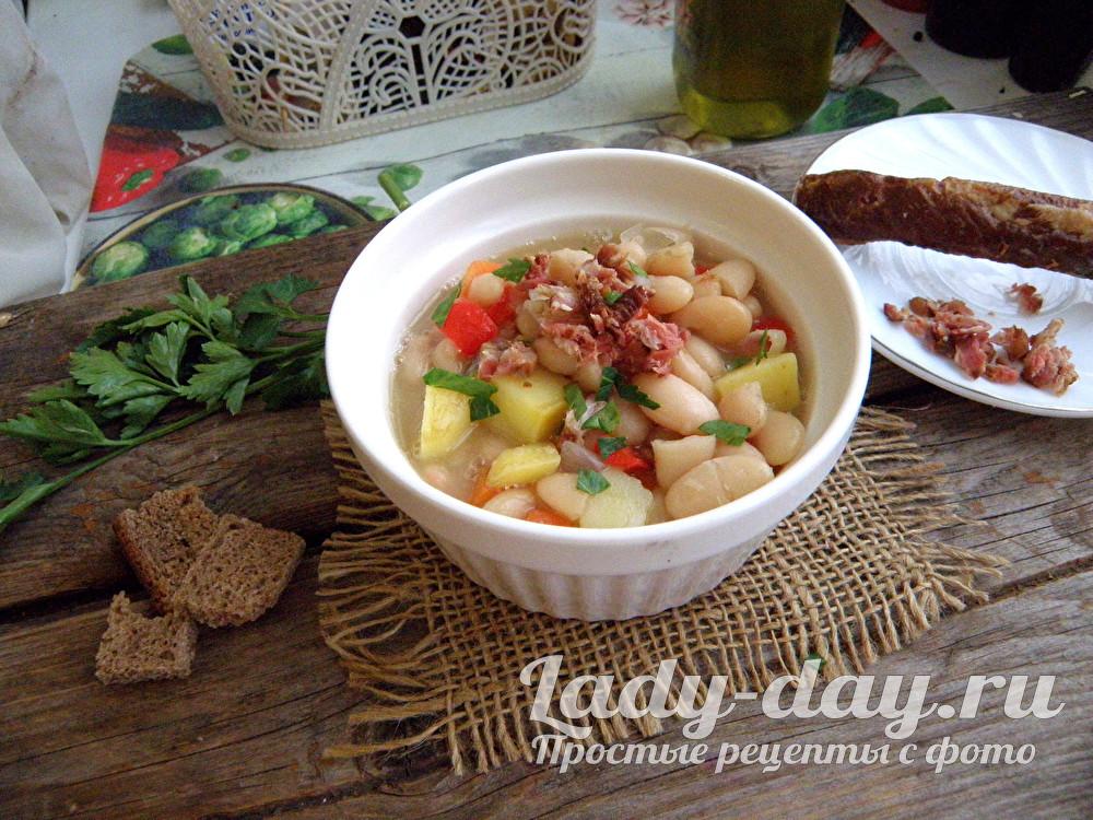 суп с белой фасолью рецепт