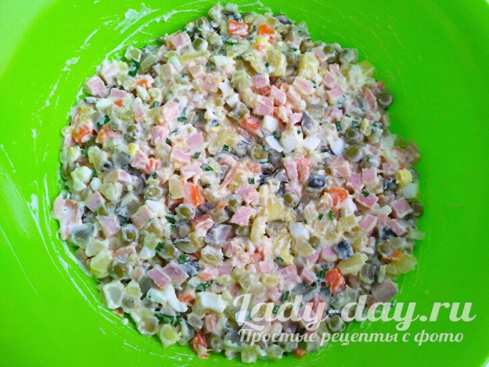 правильный салат Оливье, рецепт