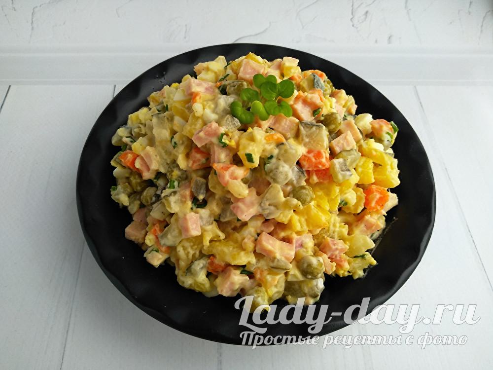 правильный салат Оливье, рецепт с фото очень вкусный