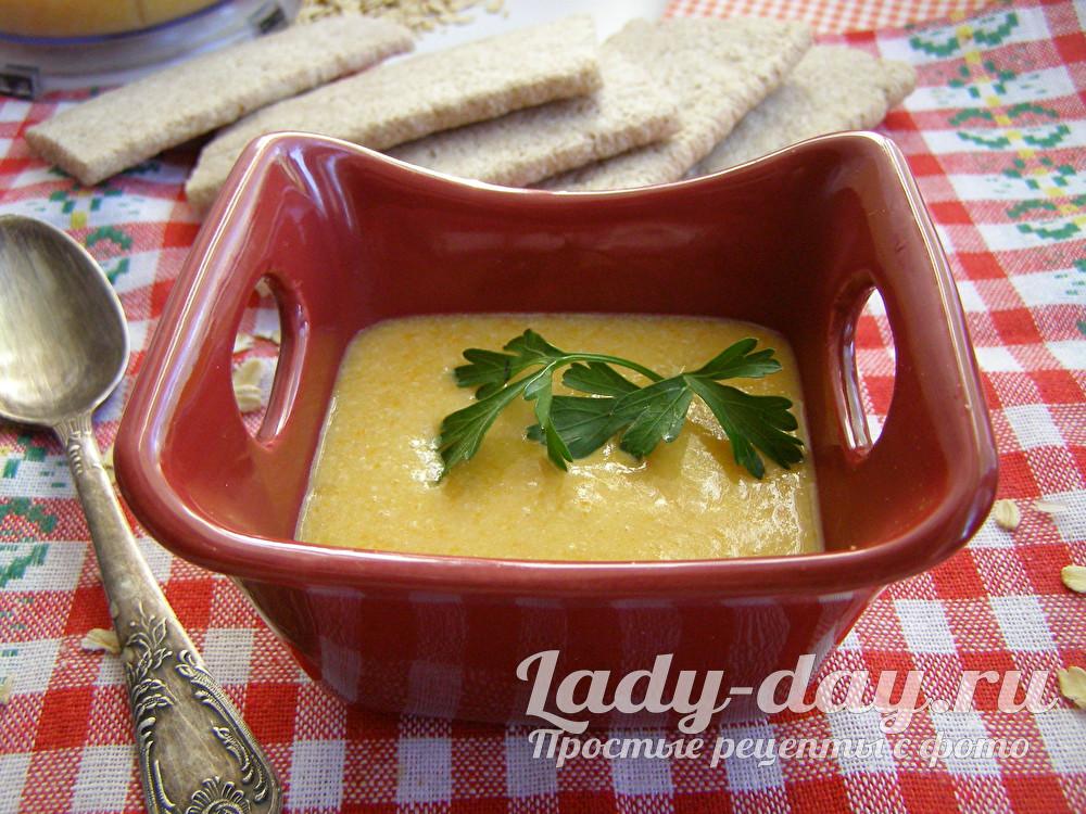 суп с овсянкой и курицей