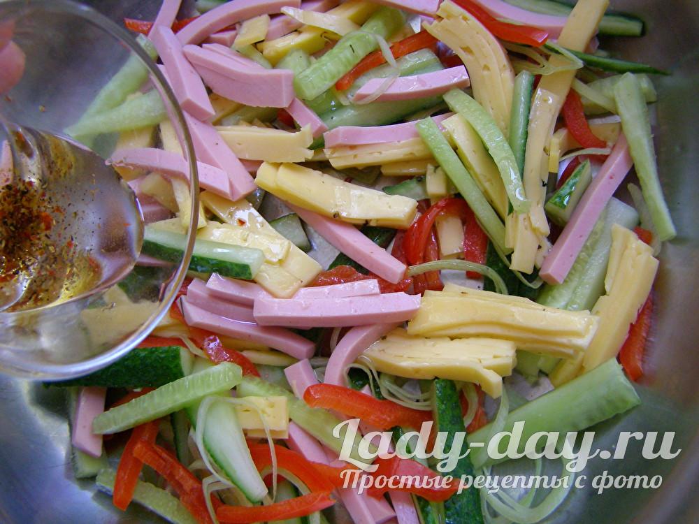 полить салат
