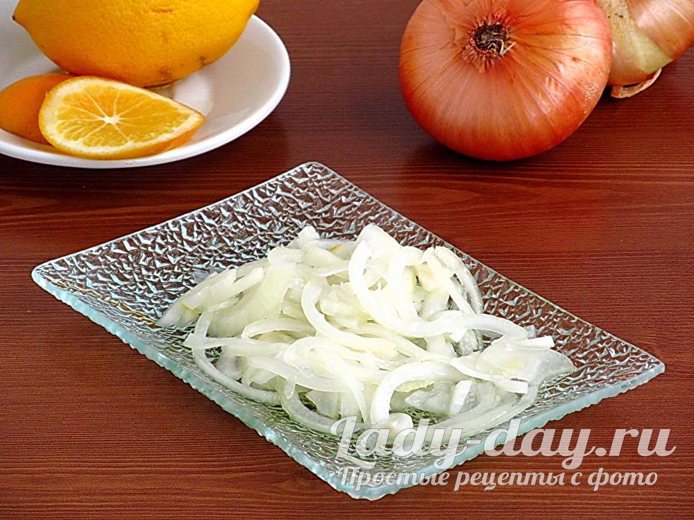 лук маринованный для салата и мяса