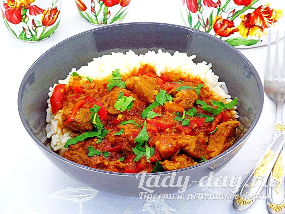 Пёркёльт - венгерское блюдо, рецепт с фото