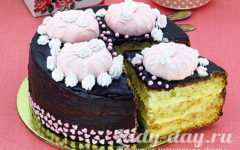 бисквитный торт очень вкусный и простой рецепт с фото в духовке