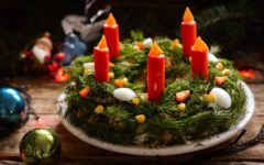 салат на Рождество