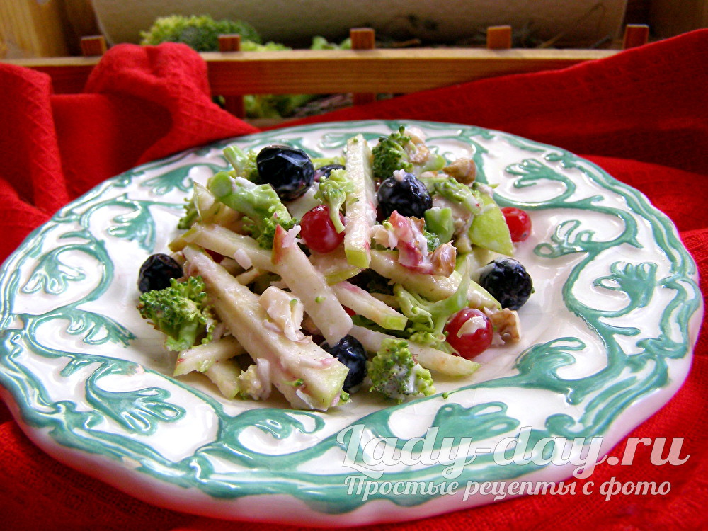 салат с брокколи рецепт с фото