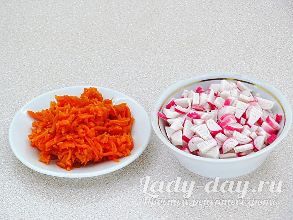 морковь и крабовые