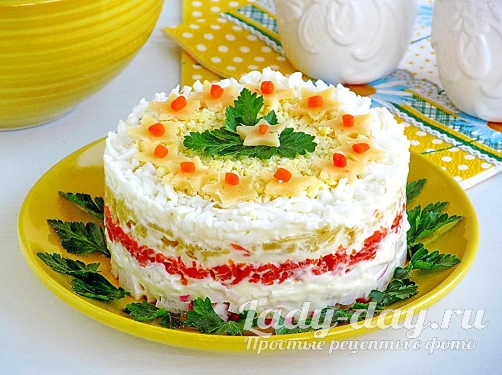 Салат из крабовых палочек «Для вечеринки»