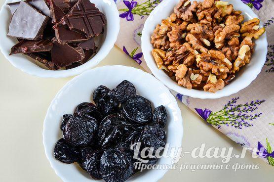 орехи чернослив шоколад