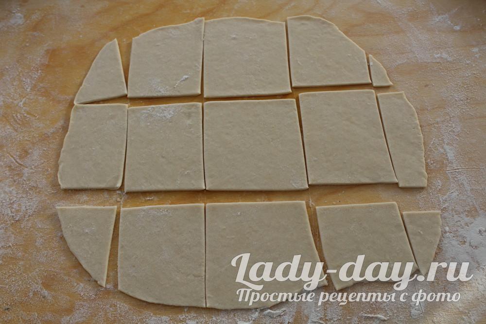 тесто квадратами