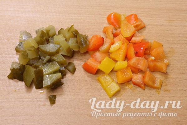 огурцы и перец