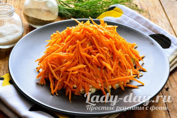 украсить морковью