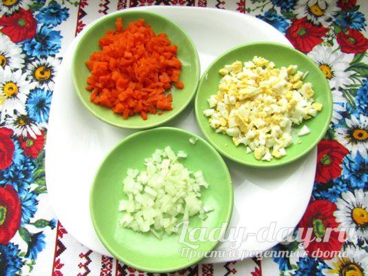 морковь и яйца