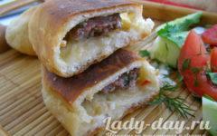 Пирожки с мясом, жареные на сковороде, рецепт с фото