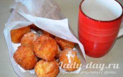 пончики из творога жареные в масле рецепт с фото пошагово
